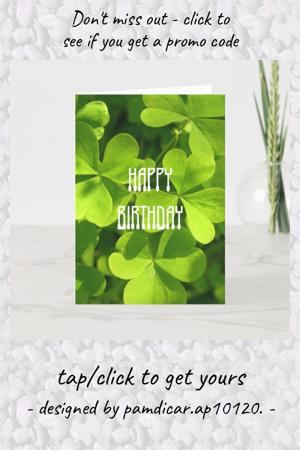 St Patrick S Day Birthday Card Zazzle Com In 2021 Birthday Cards Custom Greeting Cards Cards