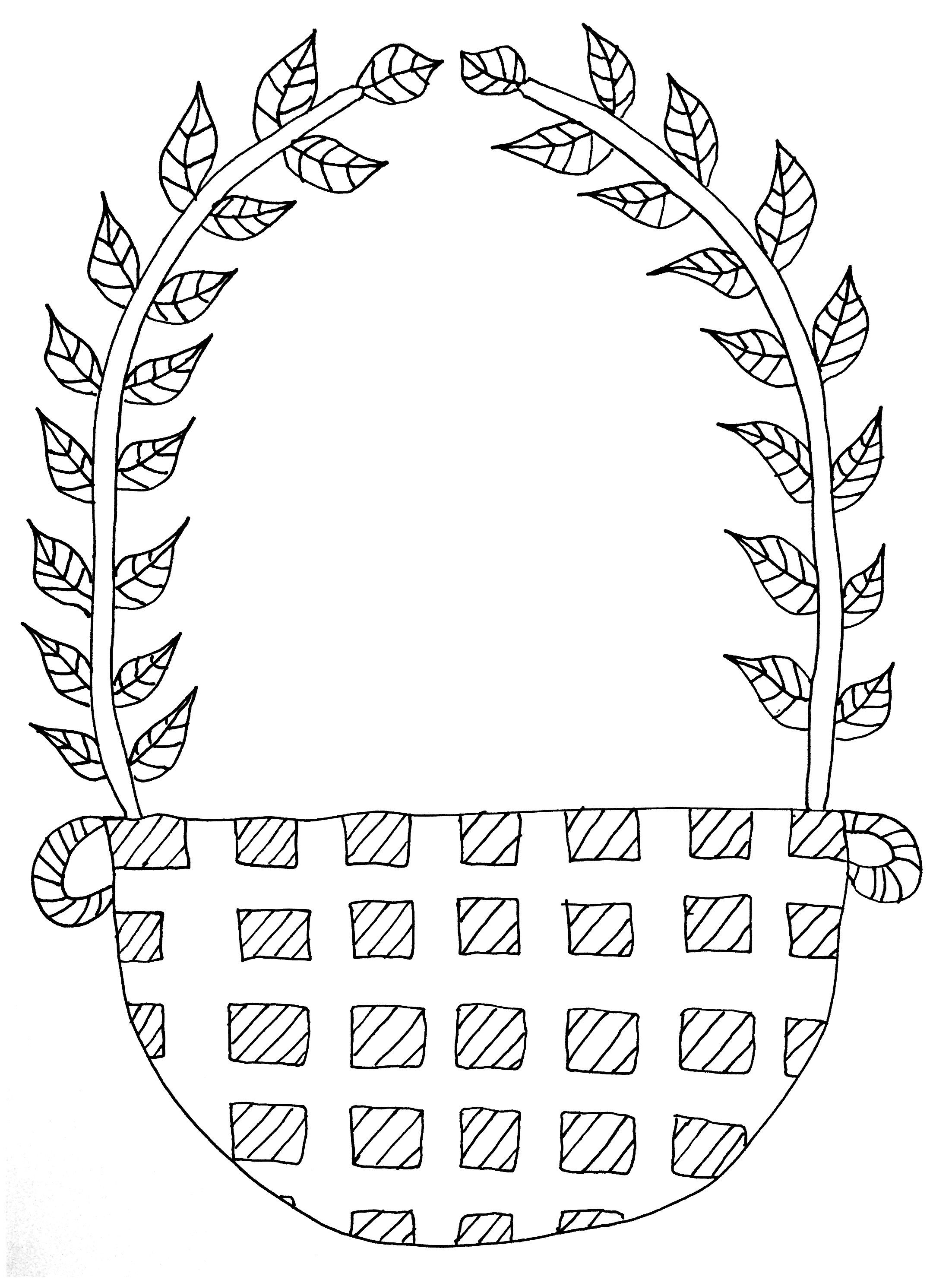 Free coloring page coloring-fruit-basket-to-complete. Fruit basket ...