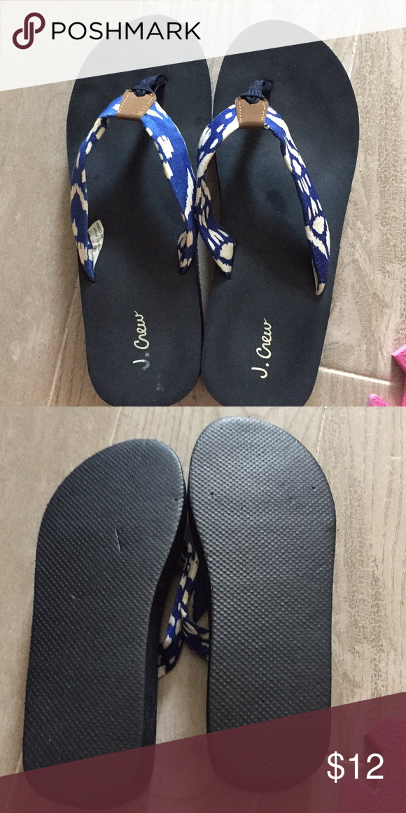 6c89c47be6d0c J Crew - Platform wedge flip flops Very gently worn and just washed.  Extremely comfortable flip flops. I have other pairs in different designs.