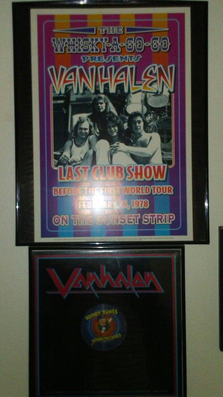 Reproduction Van Halen concert poster for their 1978 show