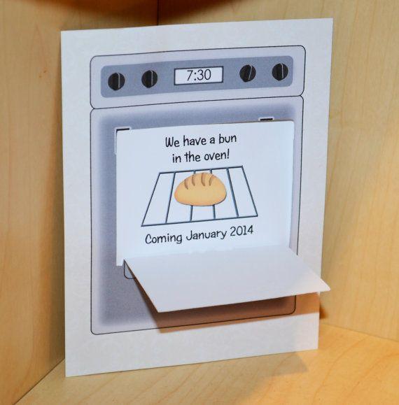 Pregnancy Announcement Bun in the Oven Open the by FuzzyFeelings – Bun in the Oven Baby Announcement