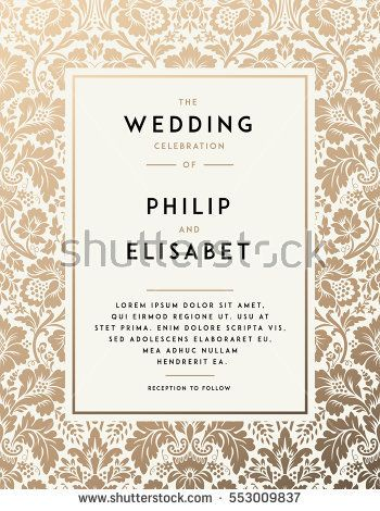Wedding Invitation Card Free Vector In Adobe Illustrator Ai Ai