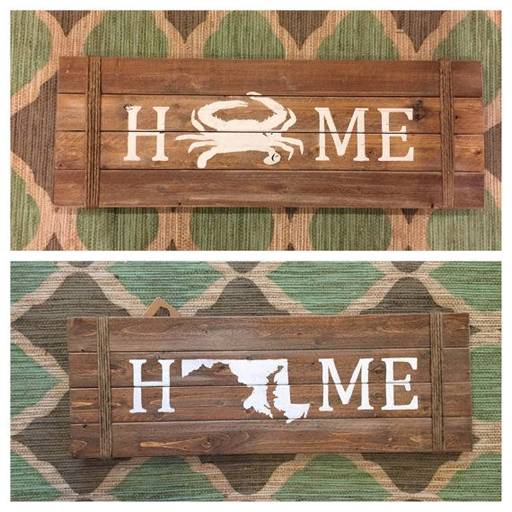 Crab Maryland Home Decor Sign Nautical By Vintagechiccreation Rhpinterest: Maryland Home Decor At Home Improvement Advice