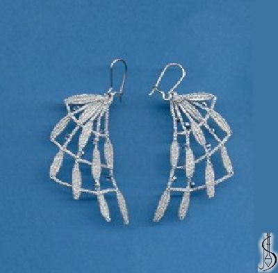 Earring No. 10977     Silver, light blue beads. Price: € 17 Other color variations are in the catalog.  ............................  Protected by copyright!