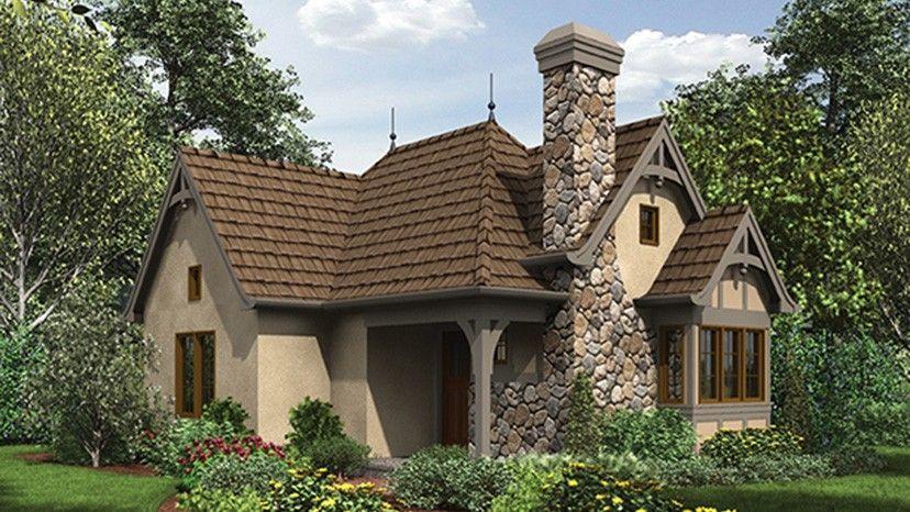 Home Plan HOMEPW77167   544 Square Foot  1 Bedroom 1 Bathroom   English  Cottage Home. Home Plan HOMEPW77167   544 Square Foot  1 Bedroom 1 Bathroom