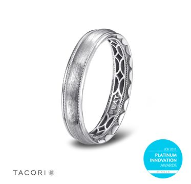 Tacori Platinum Men S Wedding Band Features A Stylish Combination Of High Polished And Milgrain Details W Mens Wedding Bands Platinum Tacori Platinum Platinum