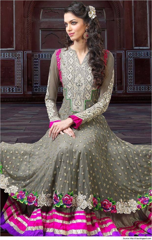 Trendy Floor Length Anarkali Dresses Suits Salwars