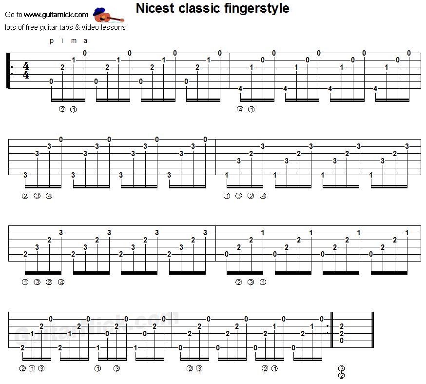 Classical Guitar Tabs : classic fingerstyle studio guitar tab songs pinterest guitars classical guitars and ~ Russianpoet.info Haus und Dekorationen