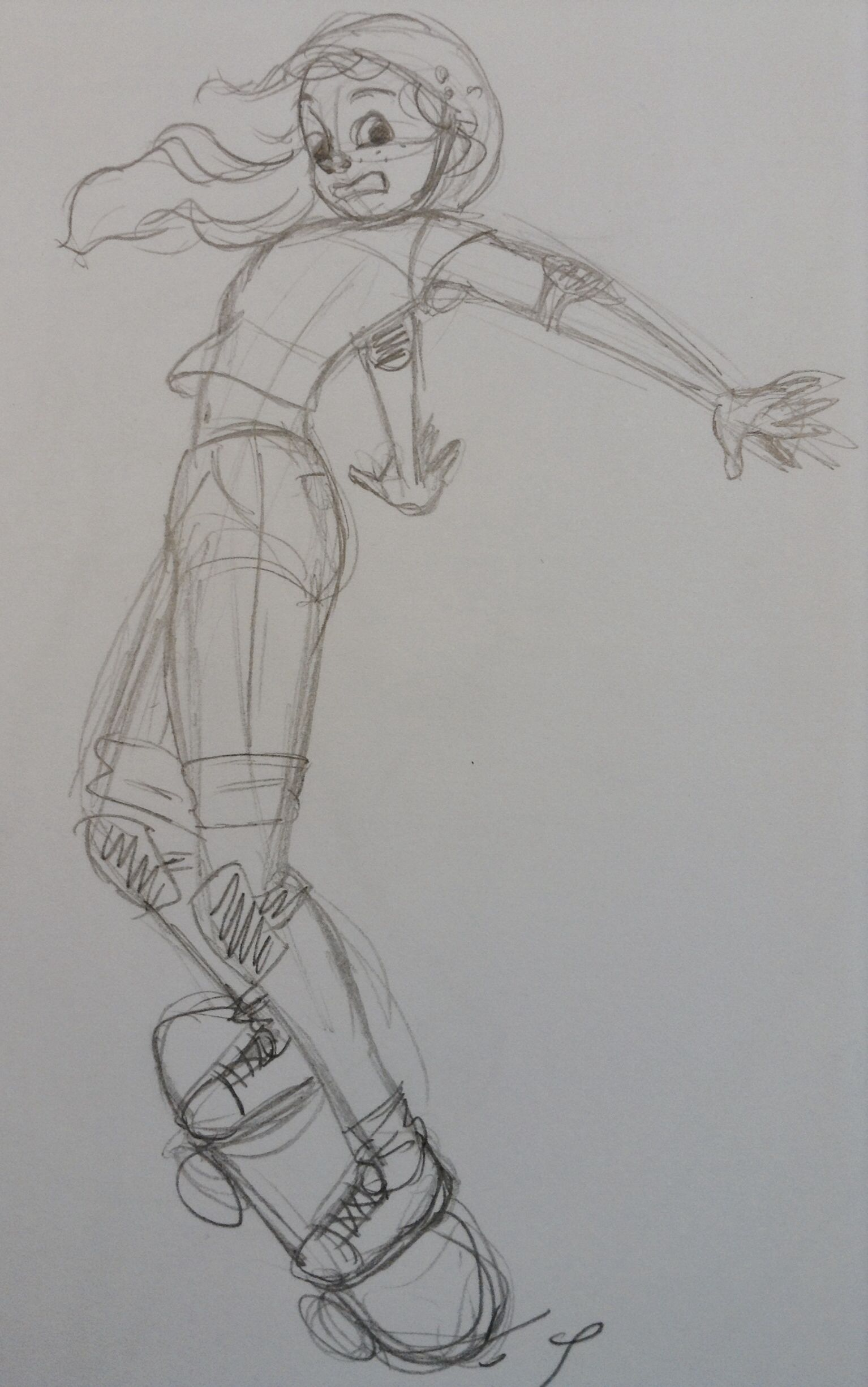 Sketch of a girl. By Yenthe J.