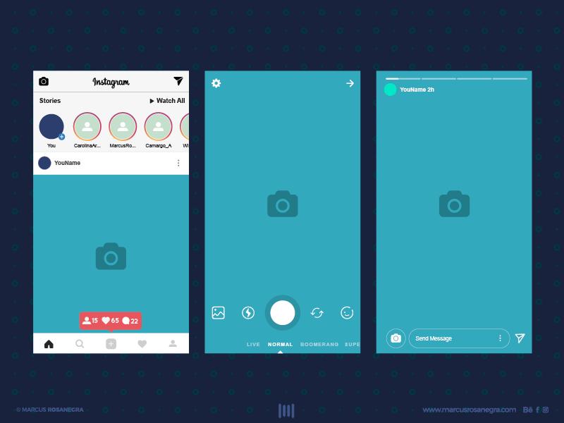 Instagram Stories Free Interface Instagram Mockup Instagram Story Design Template