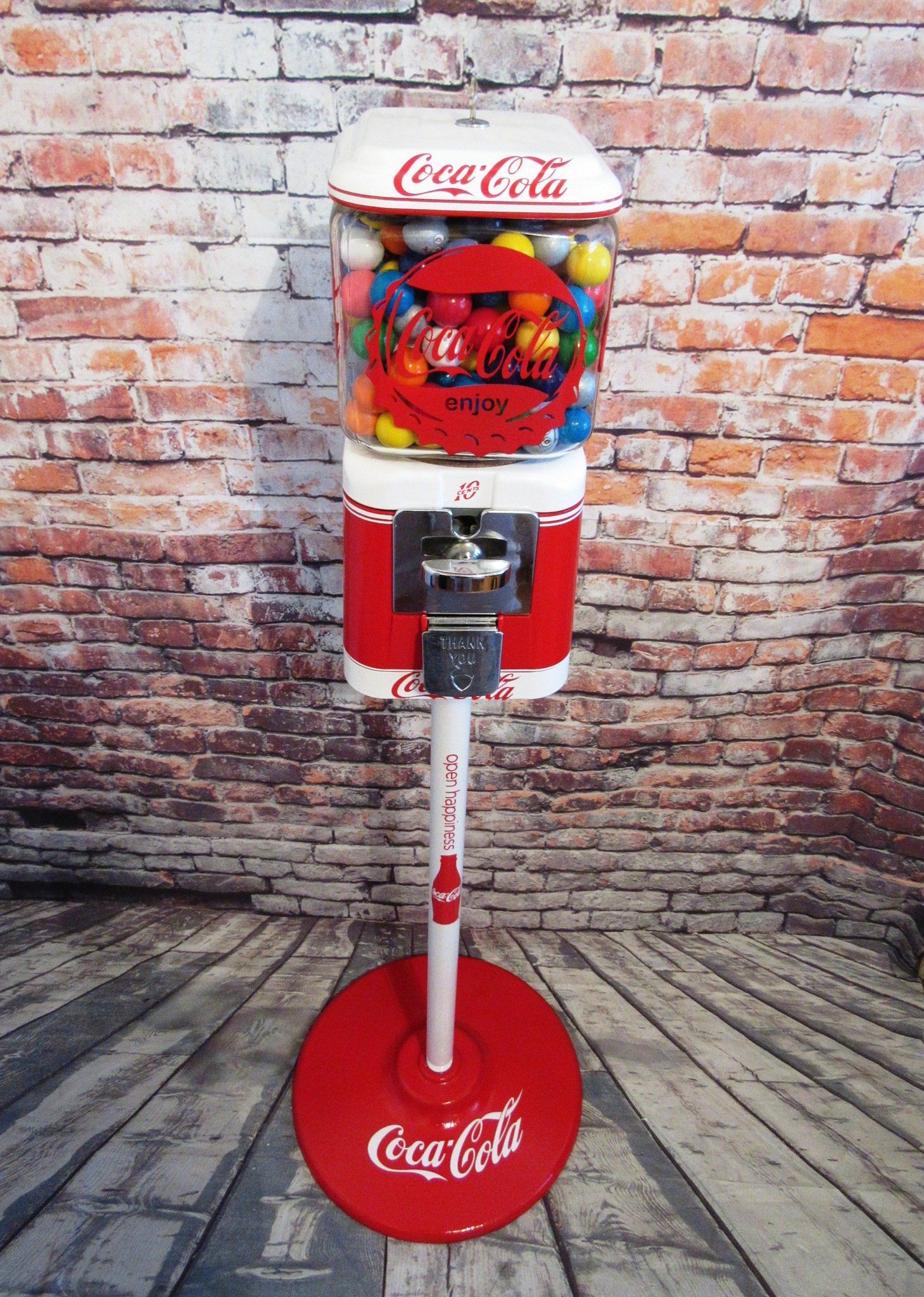 Vintage Acorn Gumball Machine Coca Cola Glass Globe + Matching
