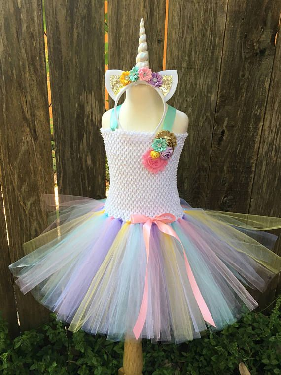 Years Old Girl Tutu Dress Little Pony Unicorn Dress Headband Christmas  Halloween Party Dresses. Unicorn costume pastel unicorn dress girls  halloween 0290124d6881