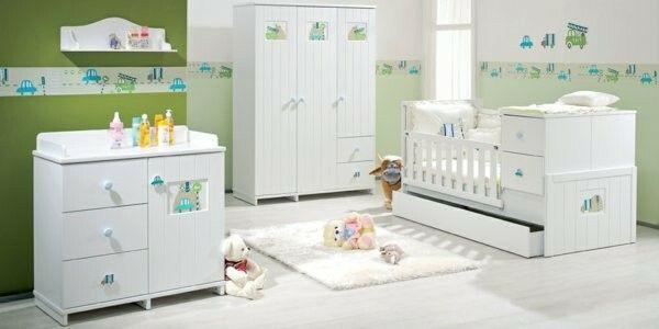 Kinderzimmer grün mit Bordüre Kinder zimmer