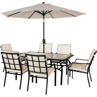 buy barcelona 6 seater patio furniture set at argoscouk visit argos - Garden Furniture 6 Seats