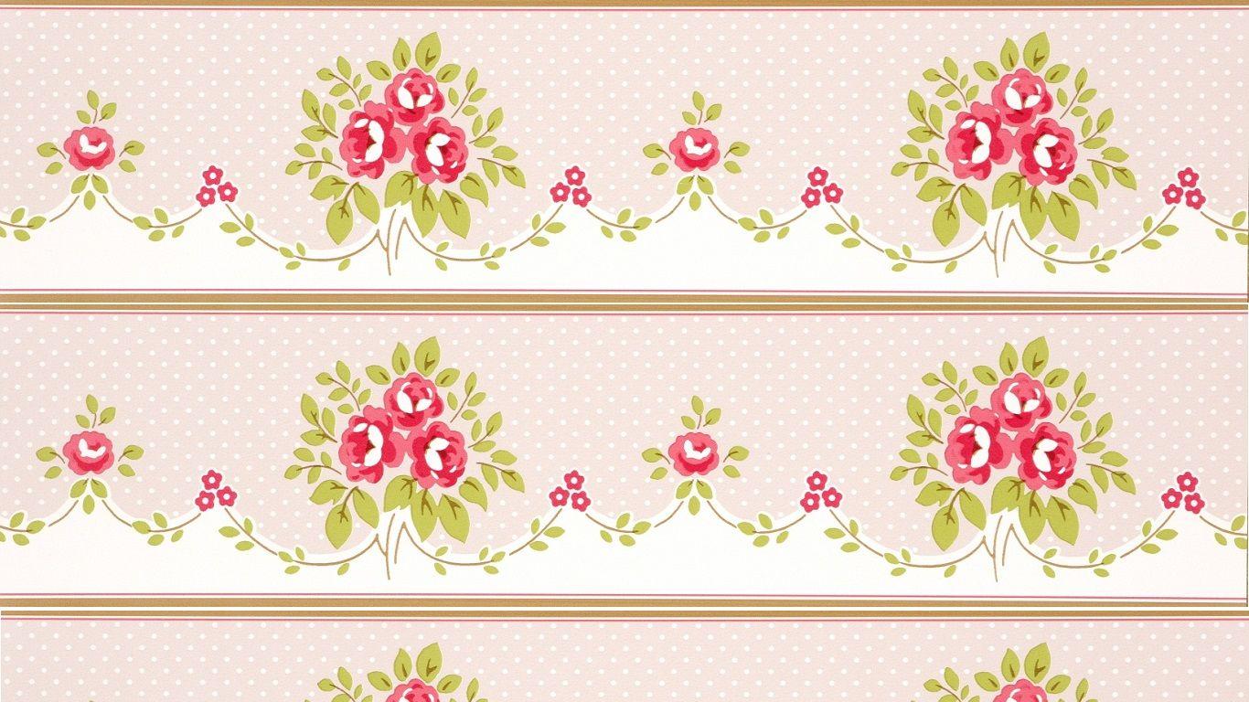 shabby chic wallpaper border shabby chic wallpaper floral bouquet rh pinterest com