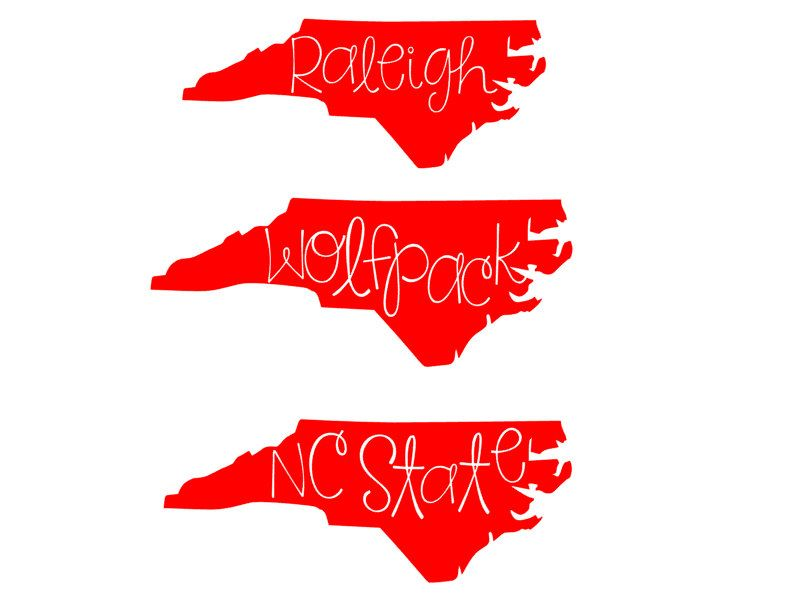 Raleigh wolfpack nc state vinyl decal car decal laptop decal computer decal by allisonsvinyldesigns
