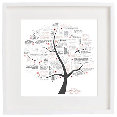 Wedding Wishing Tree Bespoke Framed Typographic Word Art | Gorgeous ...