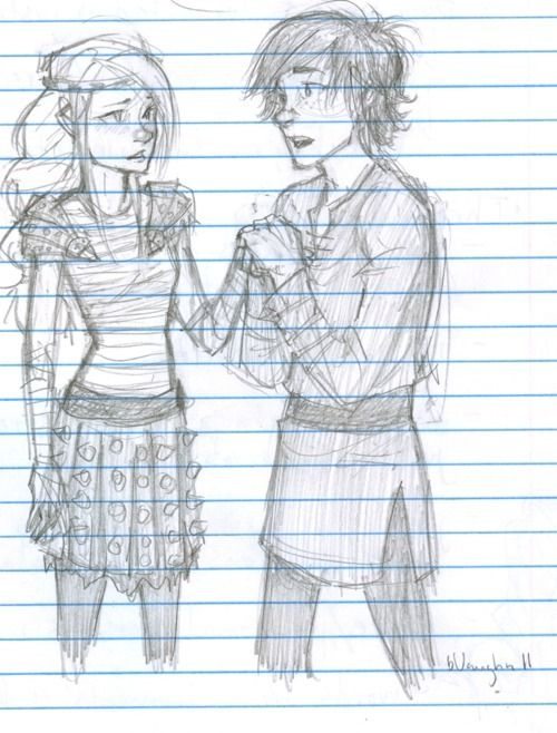 Hiccup and Astrid by Burdge bug