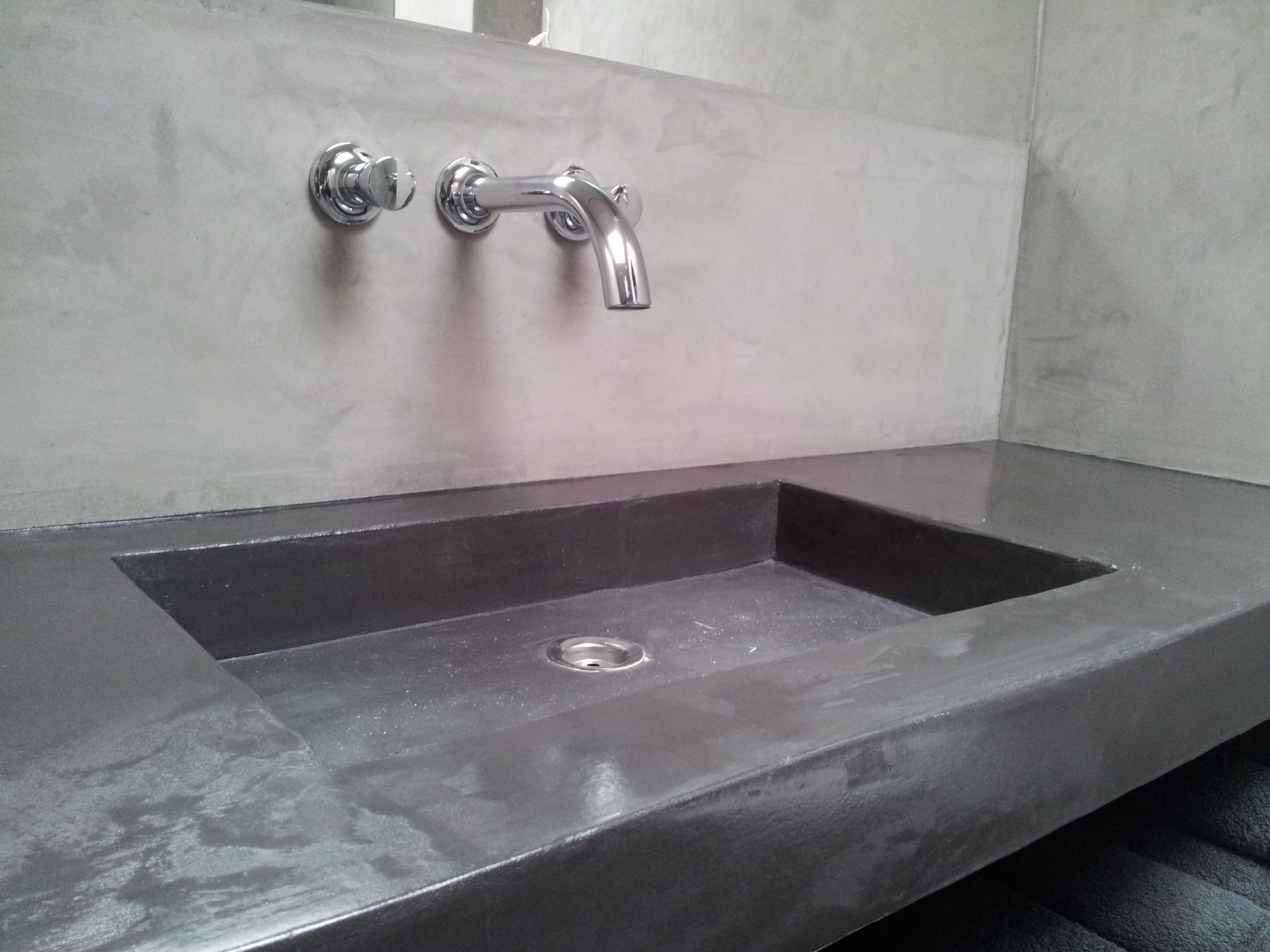 decostuc wastafel badkamer kalkverf en stucco s pinterest