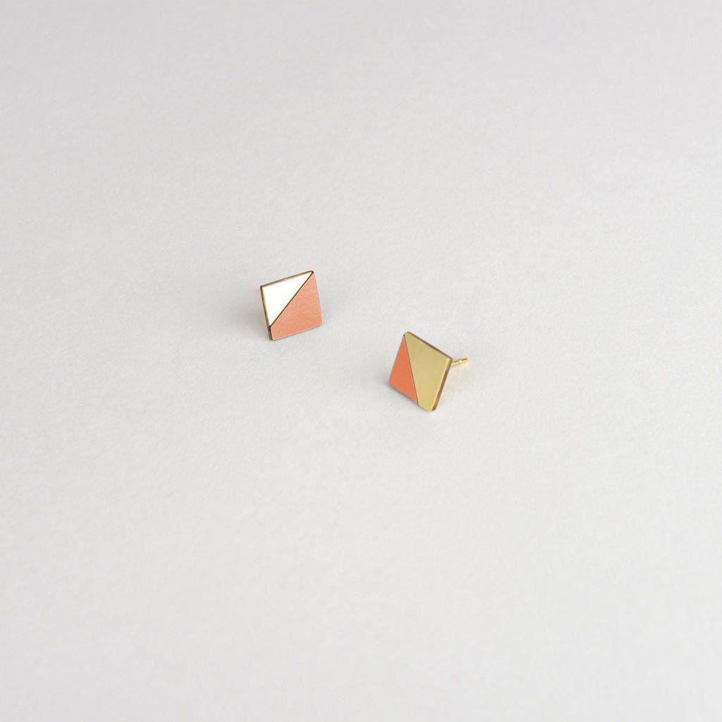 Form Square Earrings   Tom Pigeon   http://adornmilk.com
