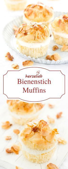 für leckere Bienenstich-Muffins – kleine Kuchen Rezept für leckere Bienenstich Muffins - Kuchen in Bestform!Rezept für leckere Bienenstich Muffins - Kuchen in Bestform!
