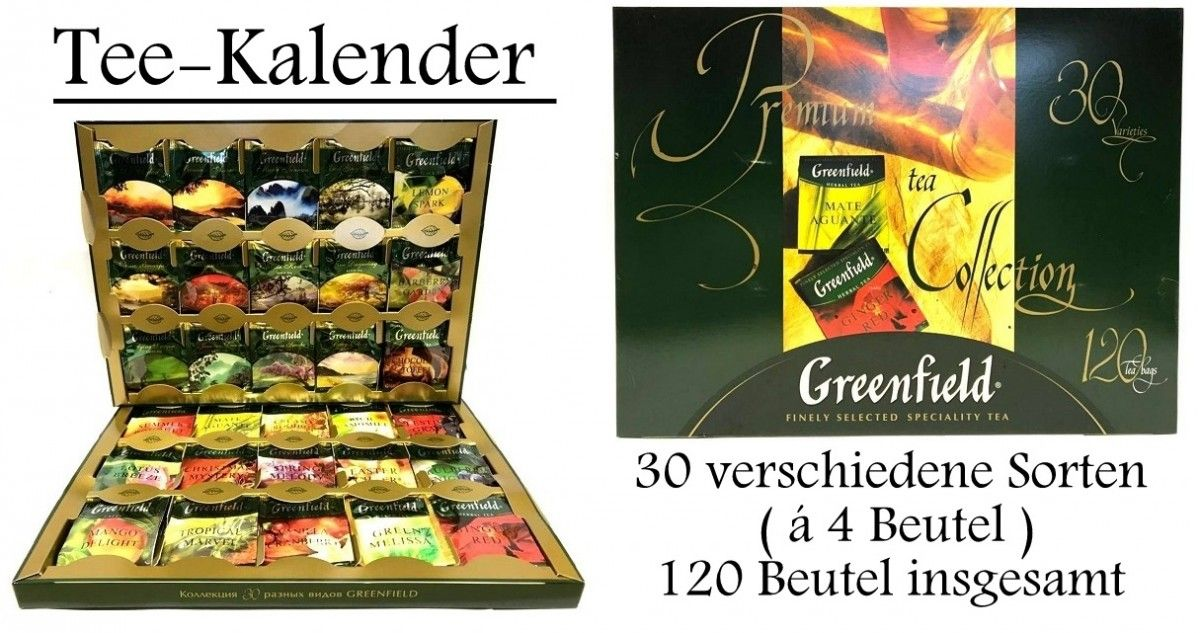 Herzbotschaft Premium Tee Kalender 30 Tage Adventskalender