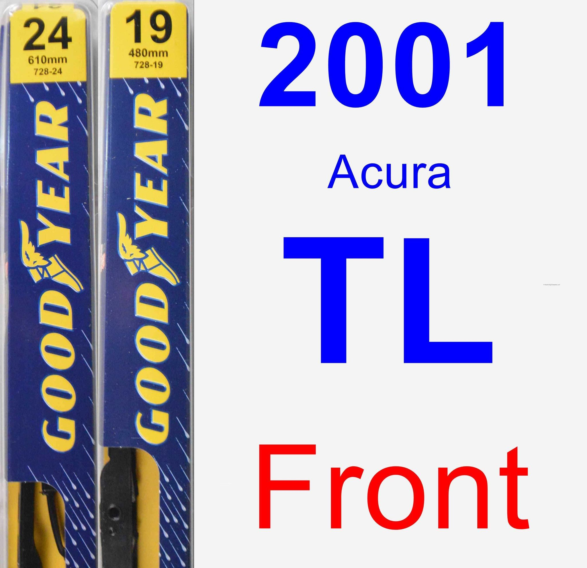 Front Wiper Blade Pack For 2001 Acura TL - Premium