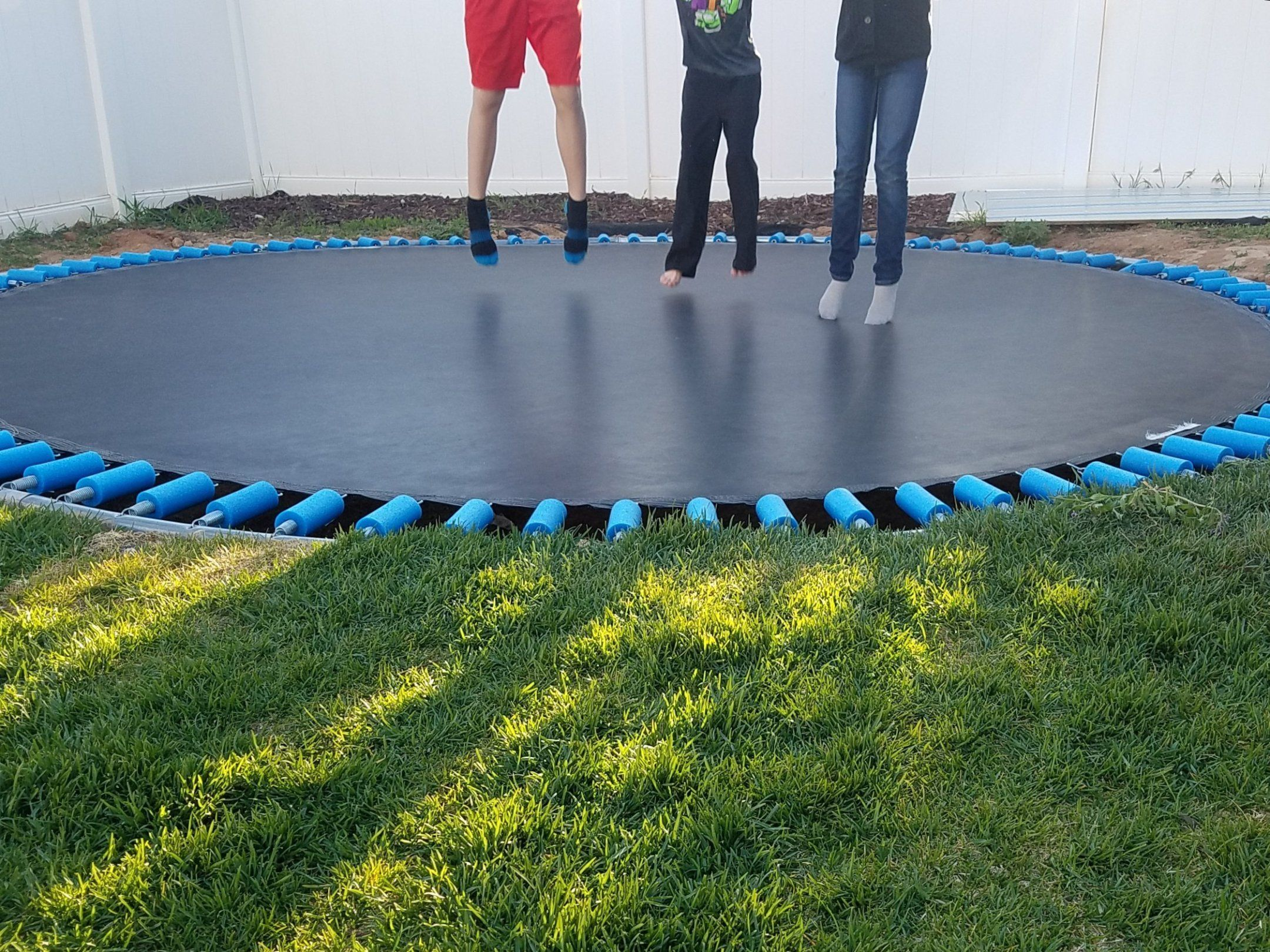 How to Make a Trampoline Pit for Under $100 - This ...