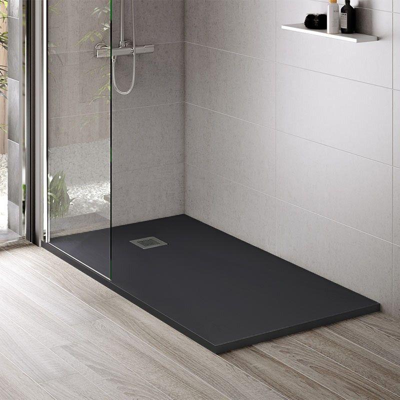 Bac Receveur De Douche Noir En Resine Ideal Pour Une Salle De Bain Comtemporaine Arredamento Bagno Bagno Arredamento
