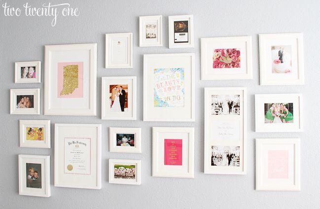Wall collage - white ikea frames (Ribba, Sondrum, and Virserum ...