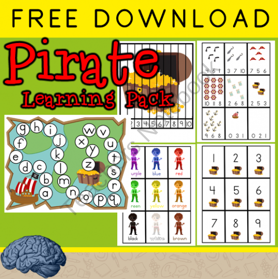 Early Learning Pirate Themed Games & Activities From Selma