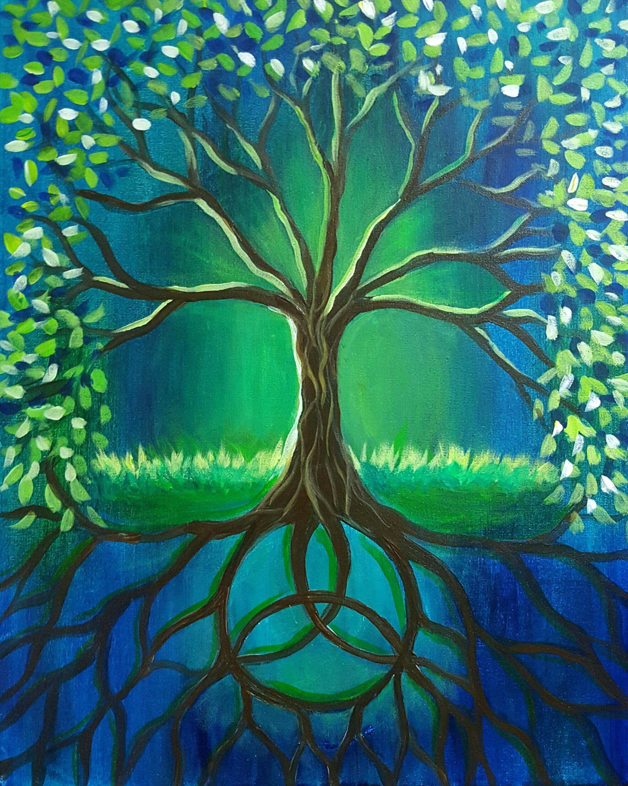 Beginners Painting Ideas Awesome Easy Acrylic Alternatux Tree Of Life Trees