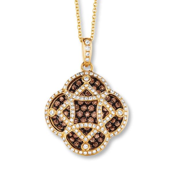 Levian Chocolate Diamonds 1 3 4 Ct Tw Necklace 14k Honey Gold In 2020 Necklace Designs Diamond Black Necklace