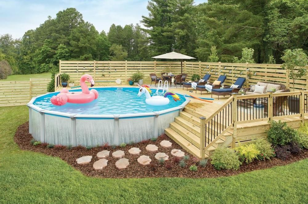 Above Ground Pools Pools The Home Depot In 2020 Pool Deck Plans Swimming Pools Backyard Best Above Ground Pool