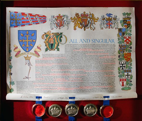 Letters Patent from the College of Arms