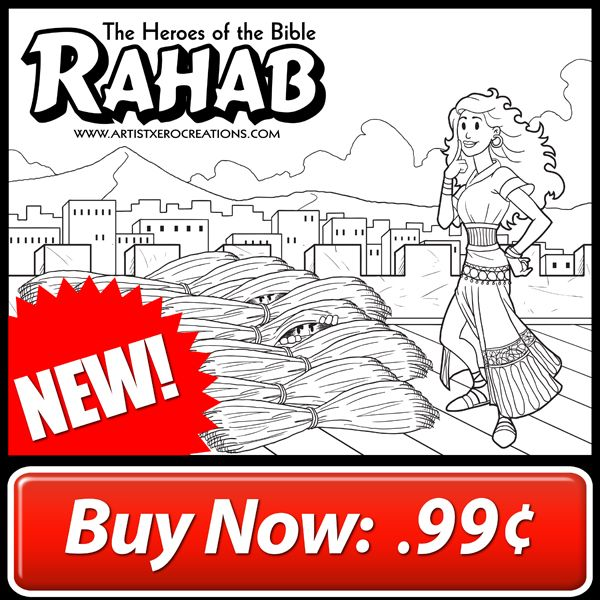 The Heroes Of Bible Coloring Page Rahab 1