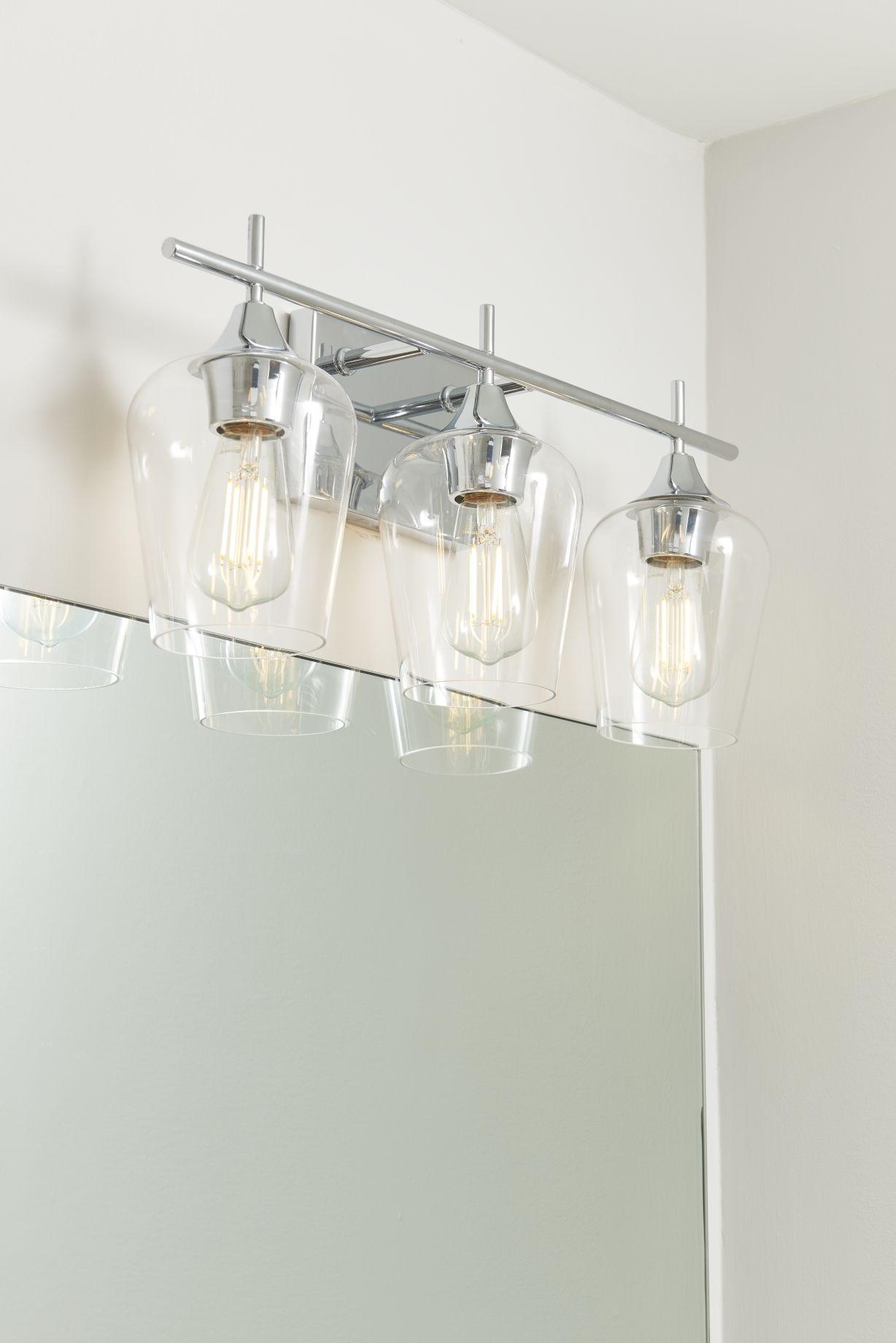 Savoy House Octave 3 Light Bathroom Vanity Light In Polished