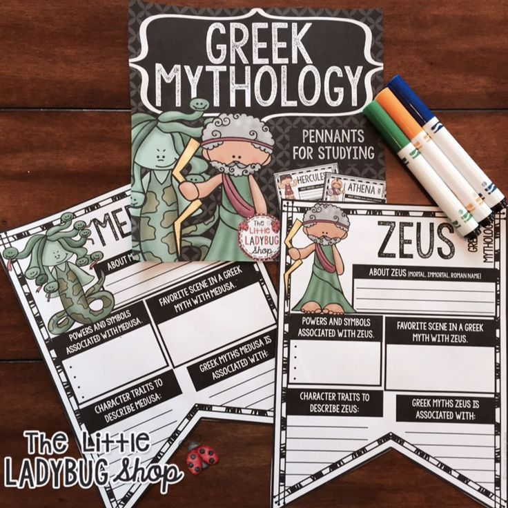 Ancient Greek Mythology Research Project & Greek Gods Teach- Go ...