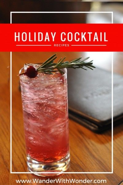 As you trim the tree and deck the halls, we have holiday cocktail