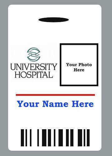 Custom Hospital Doctor Badge Id Halloween Movie Prop  Hospital
