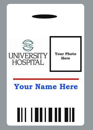 Custom Hospital Doctor Badge Id Halloween Movie Prop  Hospital