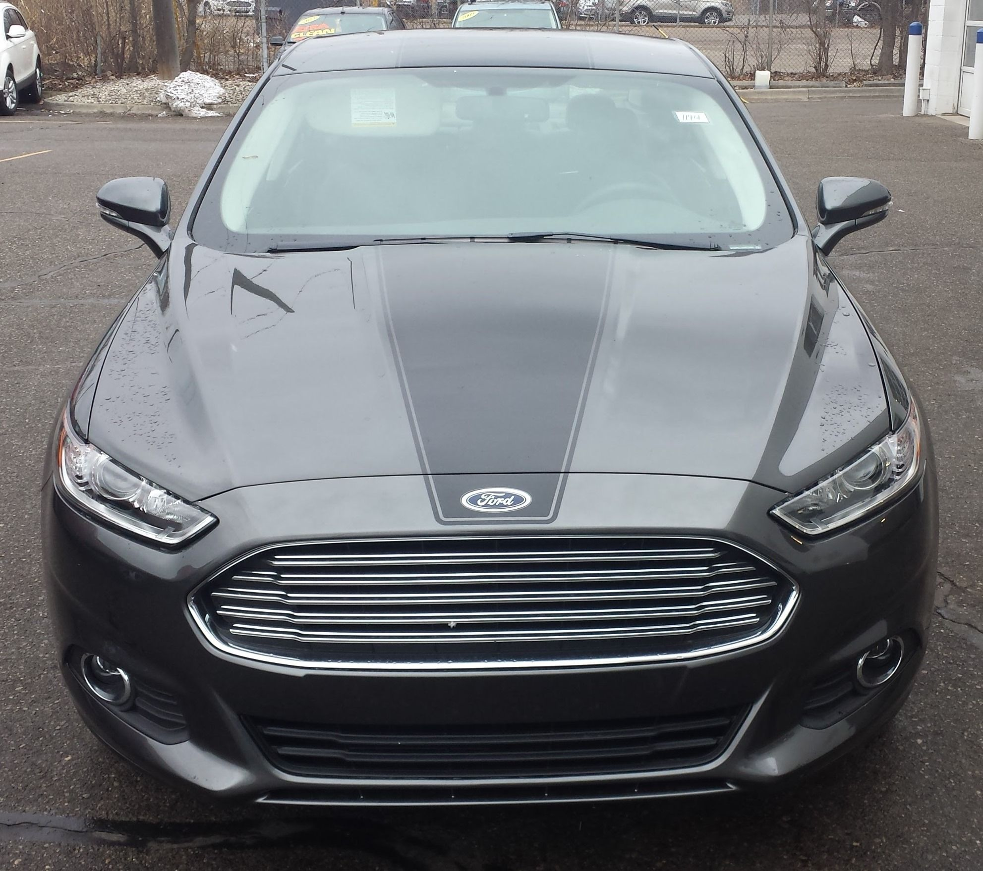 2016 Ford Fusion With Gloss Black With Single Racing Stripe On Hood Roof Trunk Ford Fusion Ford Fusion Custom Ford
