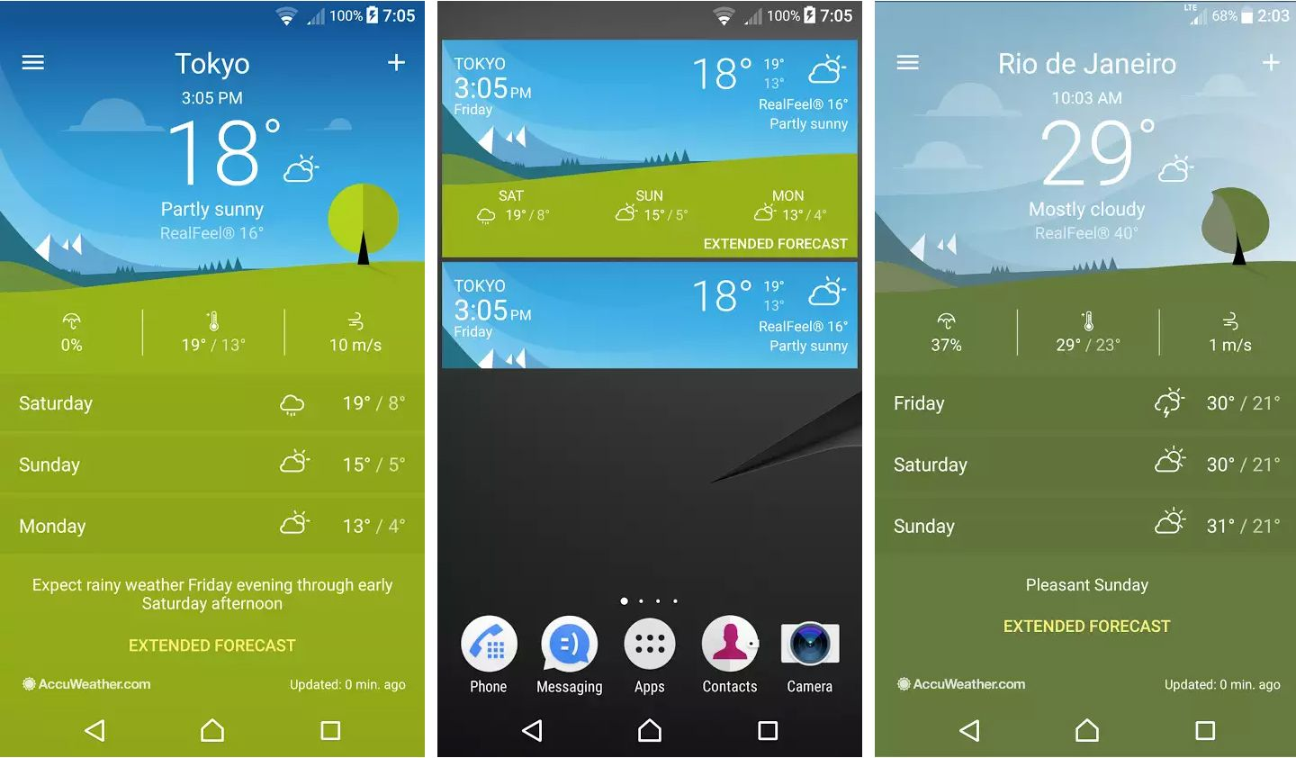 Sony Xperia Weather 1 1 A 0 40 App Update Minor Improvements And