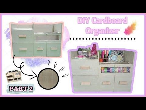 DIY Cardboard Organizer (Cheap and Easy) [PART 2]