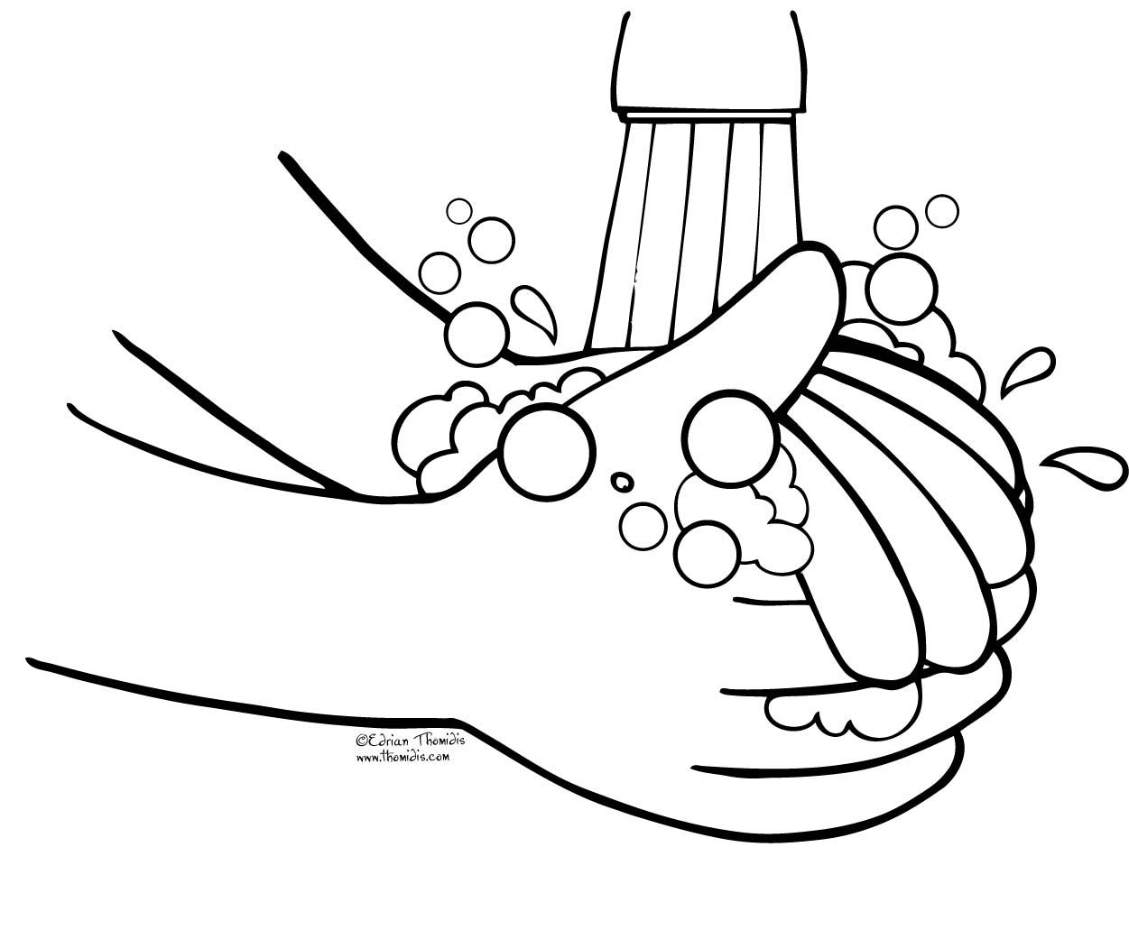 wash your hands coloring page printable