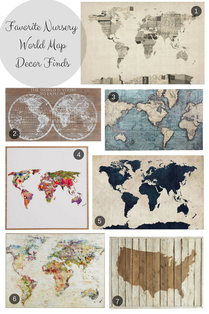 World map nursery decor finds world map wall art boy nursery decor world map nursery decor finds world map wall art boy nursery decor girl gumiabroncs Images