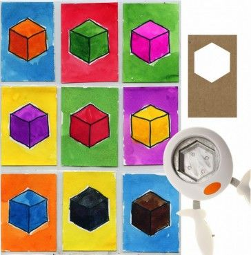 Shape to Cubes Art Trading Cards