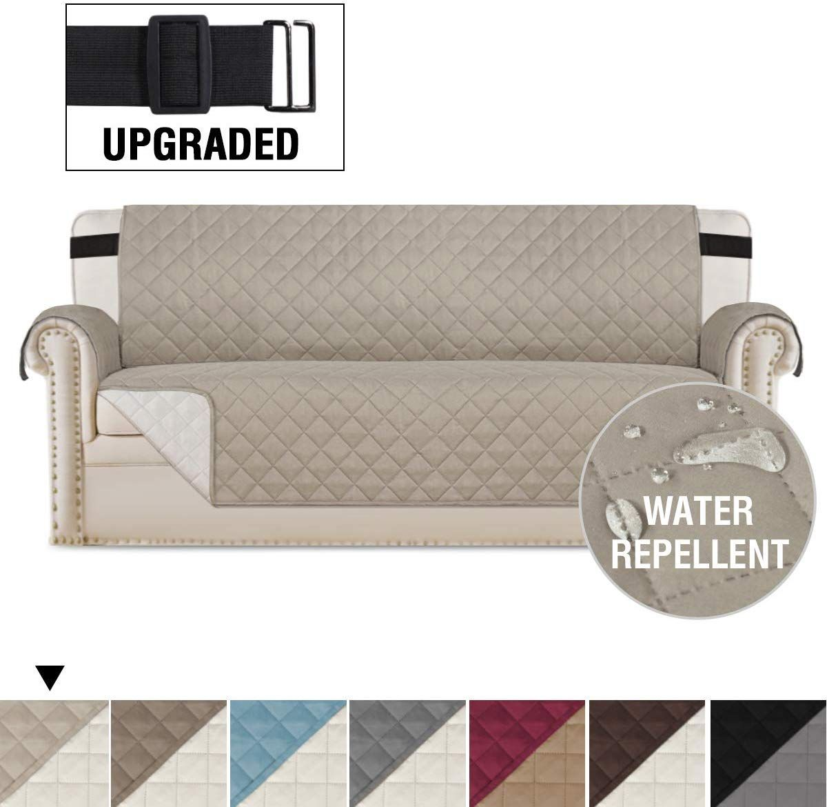 """H.Versailtex Reversible Sofa Slipcover Quilted Furniture Protector With 2/"""" Elast"""
