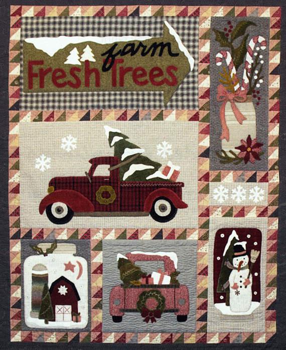Christmas Truck Wool Quilt Wool Applique Patterns