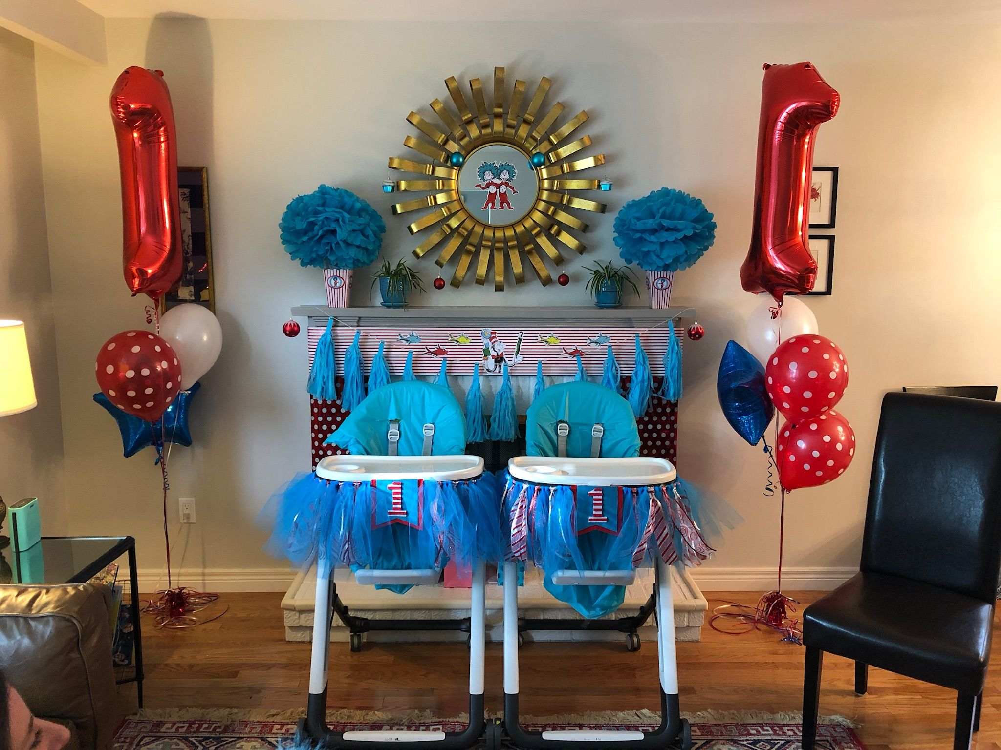 Thing 1 And Thing 2 Birthday Theme For Twins Birthday Theme 2nd Birthday 1st Birthday